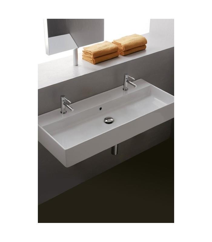 teorema vasque lavabo poser et suspendu 100 scarabeo pour sanitaires. Black Bedroom Furniture Sets. Home Design Ideas