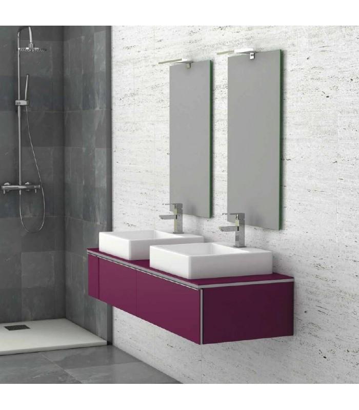 meuble suspendu salle de bain duo 140 coycama pour sanitaires. Black Bedroom Furniture Sets. Home Design Ideas