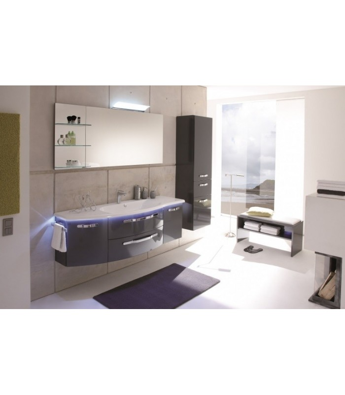 Meuble suspendu salle de bain opus cintr 154 8 pelipal - Meuble de salle de bain france ...