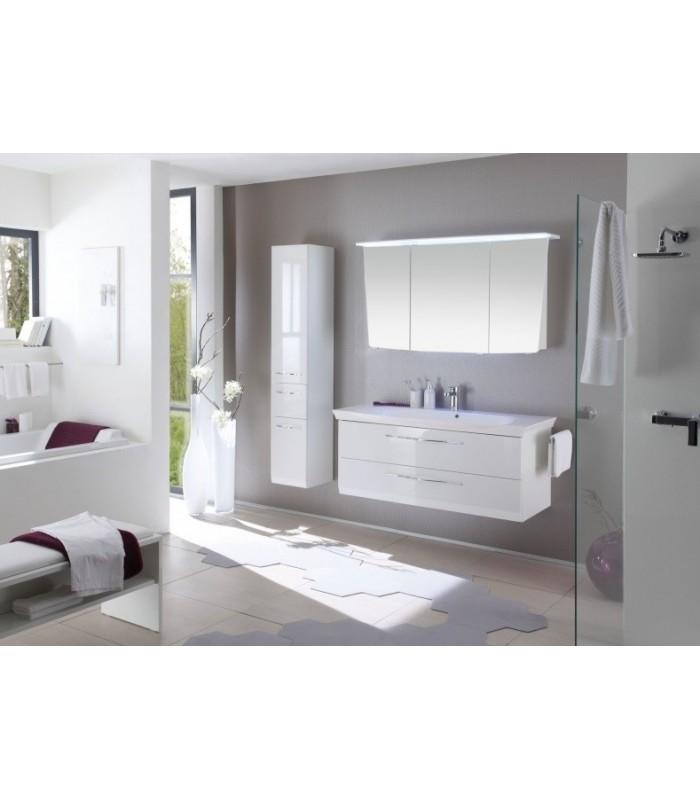 Meuble suspendu salle de bain vialo 126 pelipal france pour sanitaires - Meuble salle de bain suspendu ...