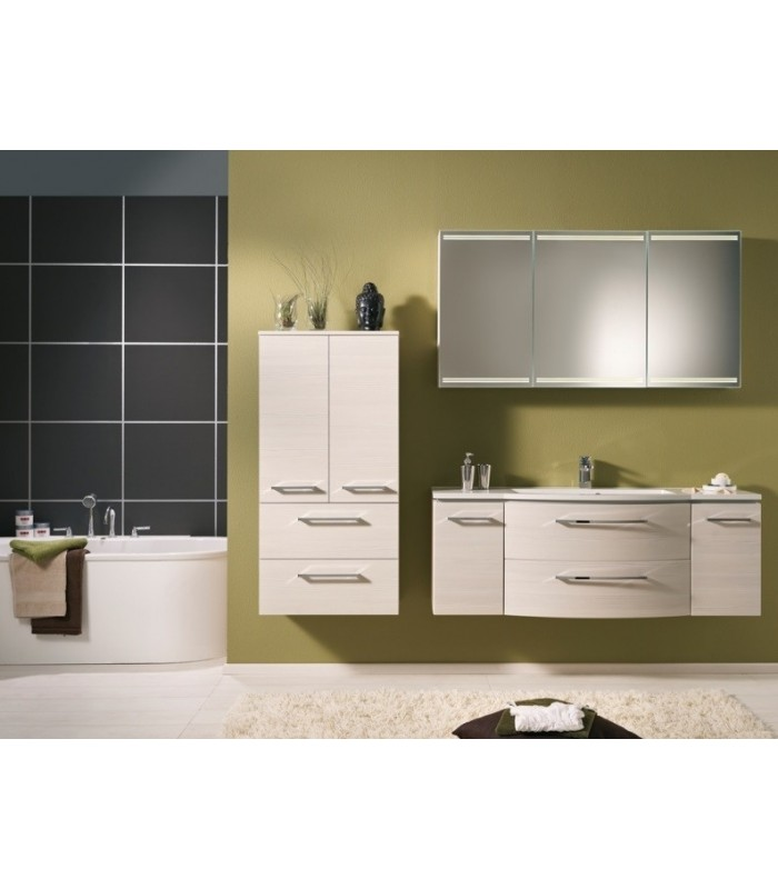 meuble suspendu salle de bain lunic 140 pelipal france pour sanitaires. Black Bedroom Furniture Sets. Home Design Ideas