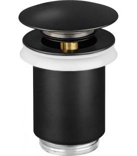 """Vanne d'ecoulement DN32 (1 1/4"""") bouchon obturateur avec trop-plein noir mat"""