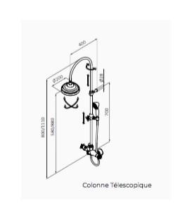 Thermostatique douche avec colonne téléscopique