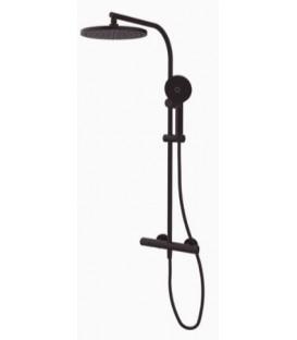 Thermostatique douche avec colonne GRB Dry noir finition noir
