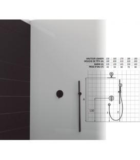 Set de douche mitigeur 1 voies gamme AXIS finiton noir