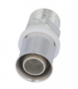 "Raccord a sertir pour tube multicouche, transition male, etame, 26x3mm - 3/4"""
