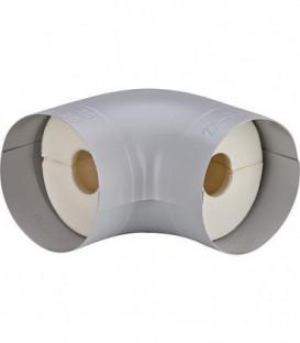 """Tube coude isolant S 90° *BG* Mousse PU (100%) plage 11/2"""" 48 mm épaisseur 40 mm"""