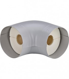 """Tube coude isolant S 90° Mousse PU (100%) plage 3/4"""" 28 mm, épaisseur 30 mm"""