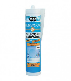 Mastic silicone Gebsicone W type Acetoxy cartouche 310 ml - translucide