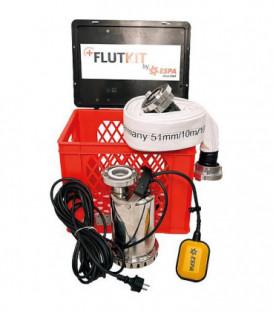 Kit débordement avec pompe inox type VX 780, Vmax 11.000 L/h 10m C-Schlauch