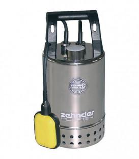 """Pompe d'immersion pour eaux sale inox 11/4"""" fil fem, 230 V, Fördermenge 10 m³/h dim du grain 30 mm E-ZW 80 A"""