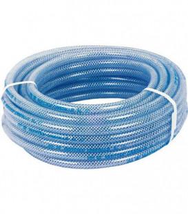 "PVC-Flexible en tissu 32x42mm,DN32 (1 1/4"")25m transparent/convient p. aliments, max. 7bar +60°C"