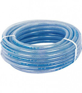 Tuyau transparent en PVC avec structure en polyestere 100m/20bar/9x15mm/-20°+60°C