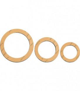 Joint de raccord special 1/2'' petit 21 x 30mm 2 mm d'epaisseur/jaune, 25 pcs