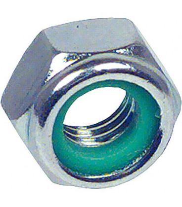 Ecrou hexagonal de securite avec Bague en plastique DIN 985 M 5 UE 1000 pieces