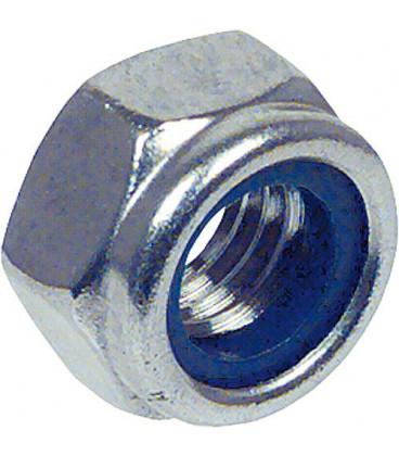 Ecrou hexagonal de securite avec Bague en plastique DIN 985 M 12 UE 200 pieces