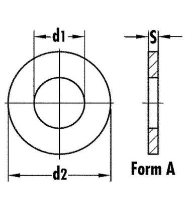 Rondelle inoxA4 DIN 9021/ISO 7093-1, M14, Emballage 100 Pieces