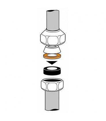 """joint a compression caoutc. 3/8"""", 12x15x4mm,noir Emballage 10 Pieces"""