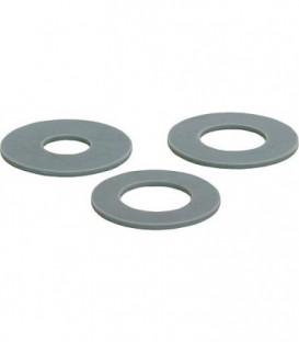 Joint de flotteur gris clair Silicone 58 diam.-malex32 diam.-fem x 3mm UE 5 pcs, convient pour Geberit