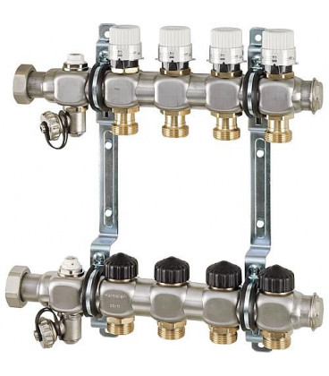 collecteur de plancher chauffant Inox Type Dynacon 2 circuits