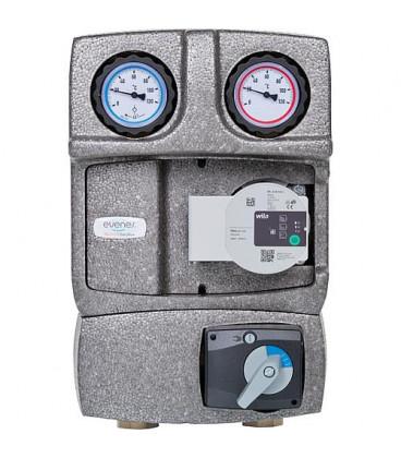 """kit de circuit de chauffage Easyflow DN25 R1"""" avec isolation, melangeur 3 voies et vanne de decharge"""