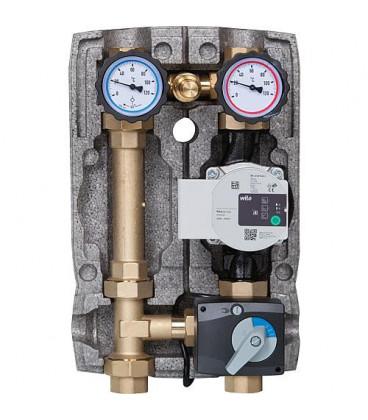 """Kit circuit de chauffage Easyflow DN25(1""""), soupape de decharge, 3-voies,Wilo Para 25/6"""