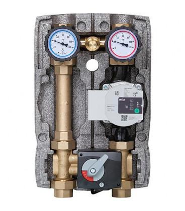 """Kit circuit de chauffage Easyflow DN25(1""""), 4-voies soupape de dech.,Wilo Para 25/6"""