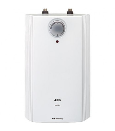 Chauffe-eau AEG HUZ 5L de base 230V/2kw, plage temperature 35-85°C Dim : 415 x 252x 215 mm basse pression