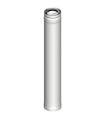 Systeme gaz d'echappement plastique Element tube 935 mm DN 080/125