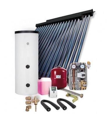 Kit solaire HP montage sur toiture 12,11m2 avec reservoir solaire 500L