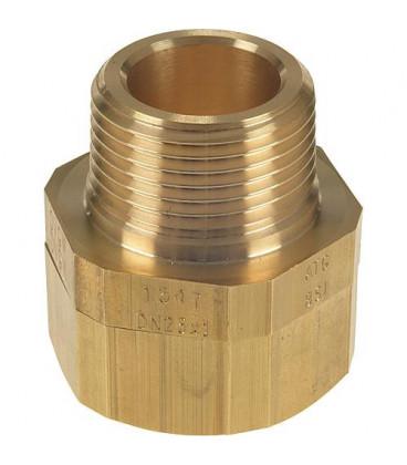 "Raccord pour flexible gaz DN25 (1"") x DN32 (11/4"") male"