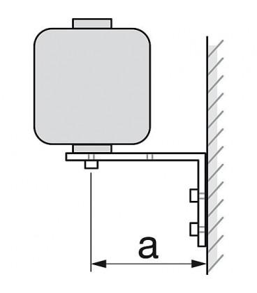Console murale WS type WK 80/220 galvanisée zinguée avec matEriau de fixation 1 paire