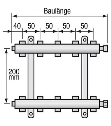 "Repartiteur de chauffage Strawa Type e-class 6307 7groupes ecrou chapeau 1"""