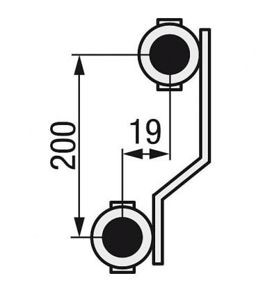 "Distributeur de chauffage WS 11 groupes type e-class 5311 Ecrou 1"" rotation libre"