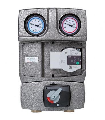 """kit de circuit de chauffage Easyflow DN25 R1"""" avec isolation, melangeur 4 voies et vanne de decharge"""