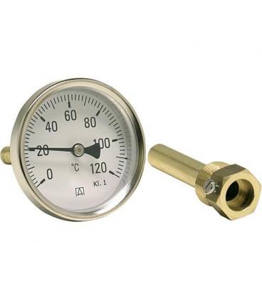 "Thermomètre bimétal industriel DN 15 (1/2""), Kl. 0/60°C""BiTh 80 I D211"