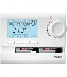 Thermostat à horloge RAMSES 831 top numErique 24h/7d, programme vacances, RAL 9010 blanc (version pile)
