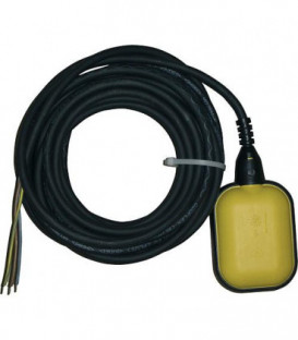 Interrupteur a flotteur 10 m Opti2 jaune pour montage ulterieur Fonction remplir