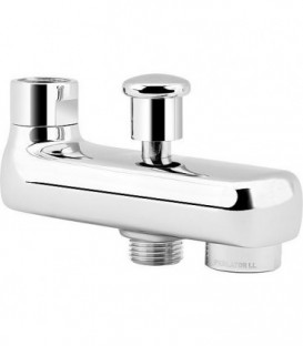 Bec de baignoire Globus 2.0 chrome, avec inverseur, entraxe 120mm
