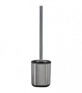 Ensemble brosse-WC Stream inox/caoutchouc noir, lxh 105x420mm