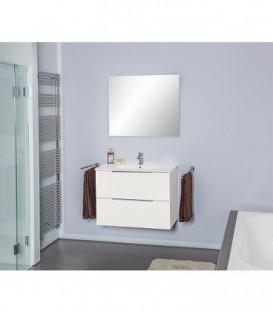 Kit meubles salle de bain Bali blanc brillant *BG*