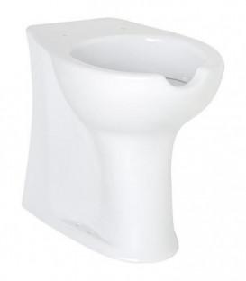 WC Elida en ceramique, blanc avec ouverture, rehausse lxhxp:375x470x570mm