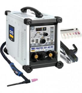 Inverseur de soudage, une phase PROTIG 201 AC/DC HF FV, courant cont. 10-160, courant alt. 10-200A