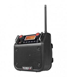 Radio de chantier Mybox2 UKW 5 avec RDS, noire 180x180x130 mm