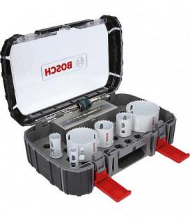 Kit scie cloche BOSCH HSS 9 pcs boisetmétal diam 19,25, 38, 44,68, 83mm