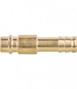 Embout pour air comprimé laiton embout cannelé male x clip male 9mm - type 26