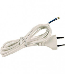 Cable de raccord Europa avec embout 2,0 m blanc