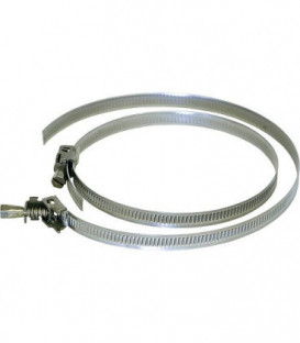 Collier de serrage S 100 DN 100 ruban metallique avec manchon de serrage (emballage:2pcs)