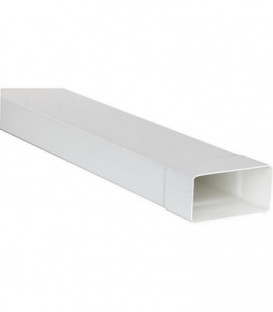Canal plat FL 100/1000 110 x 55 mm / Longueur : 1000 mm plastique blanc