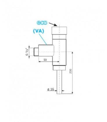 Robinet temporisé pour urinoir modèle disign 688 VIVA